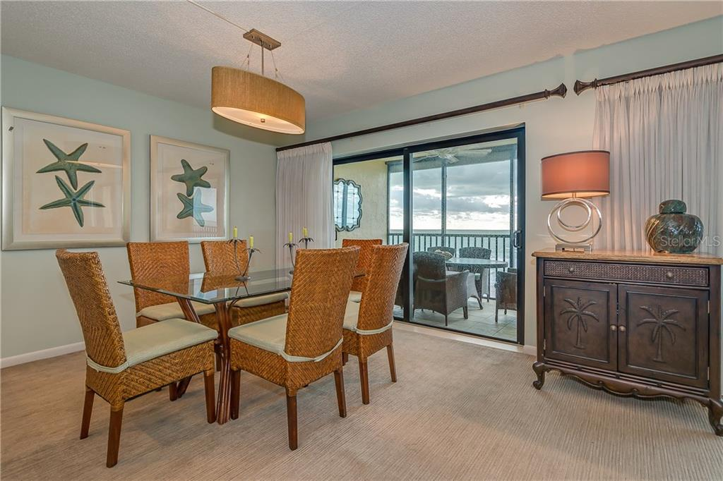 DINING AREA OVERLOOKING THE GULF OF MEXICO - Condo for sale at 5700 Gulf Shores Dr #a-317, Boca Grande, FL 33921 - MLS Number is D5922412