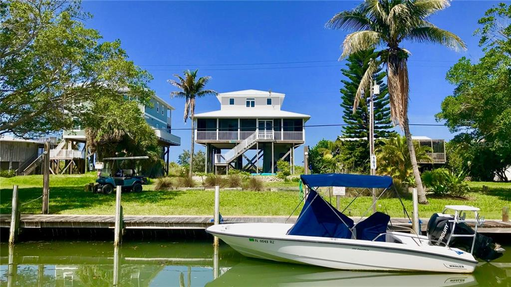 The north canal has easy and open access to the ICW and the Gulf of Mexico. - Single Family Home for sale at 9722 Little Gasparilla Is, Placida, FL 33946 - MLS Number is D6100685