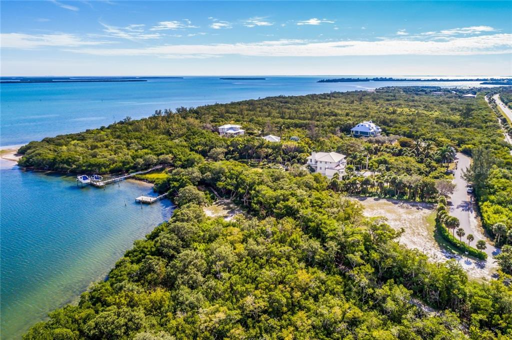 Aerial view of lot and boat dock - Vacant Land for sale at 5040 Grouper Hole Ct, Boca Grande, FL 33921 - MLS Number is D6104626