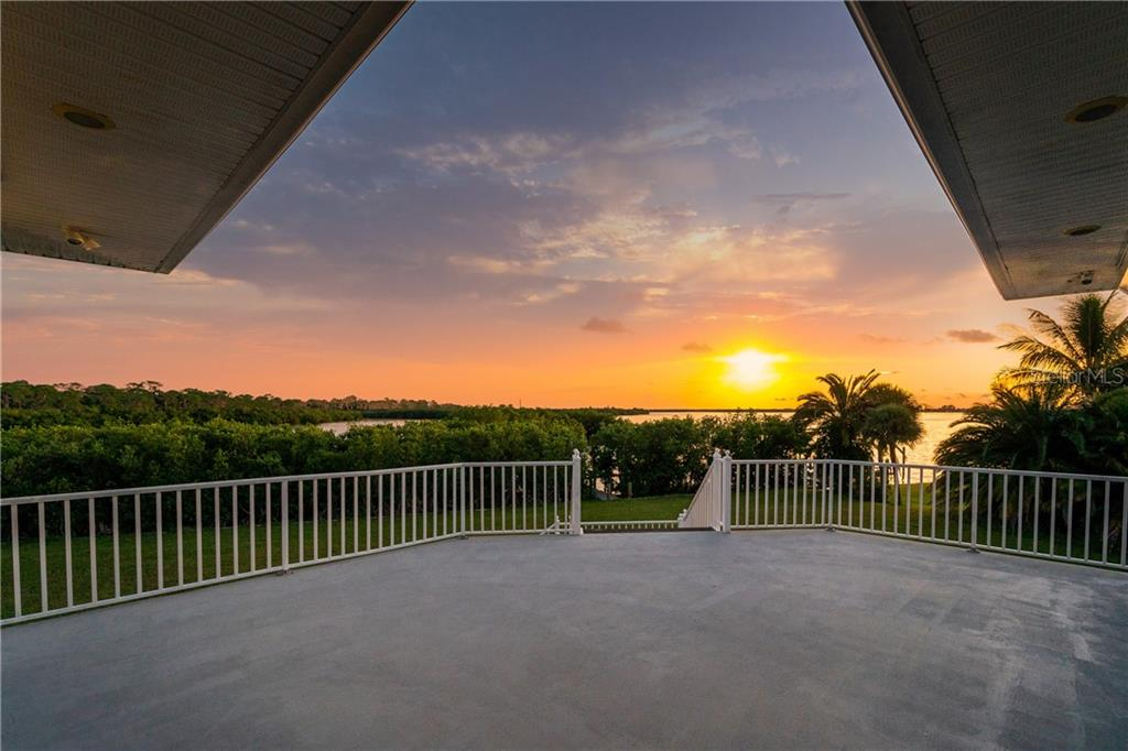 Sunset from the main deck - Single Family Home for sale at 1851 New Point Comfort Rd, Englewood, FL 34223 - MLS Number is D6109283