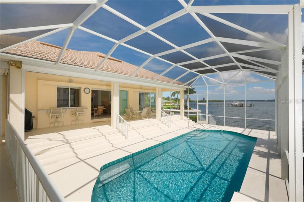 POOL AND LANAI - Single Family Home for sale at 6793 Manasota Key Rd, Englewood, FL 34223 - MLS Number is D6112093