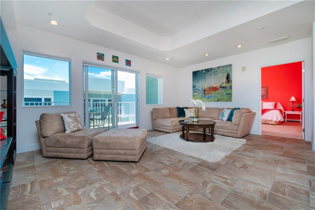 Looking into Colorful Third Bedroom - Condo for sale at 2225 N Beach Rd #401, Englewood, FL 34223 - MLS Number is D6114646