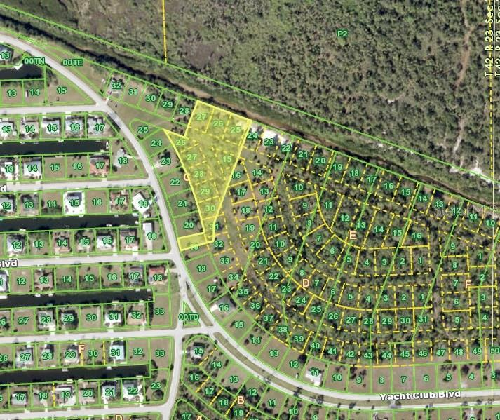 Aerial View - Vacant Land for sale at 24402 Grand Canal Rd, Punta Gorda, FL 33955 - MLS Number is C7225343
