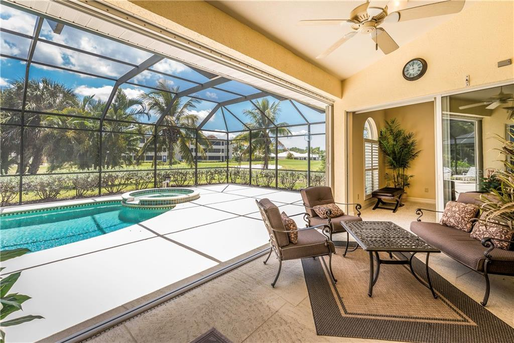 Roomy covered lanai offers plenty of room for relaxing or entertaining. - Single Family Home for sale at 931 Linkside Way, Punta Gorda, FL 33955 - MLS Number is C7400849