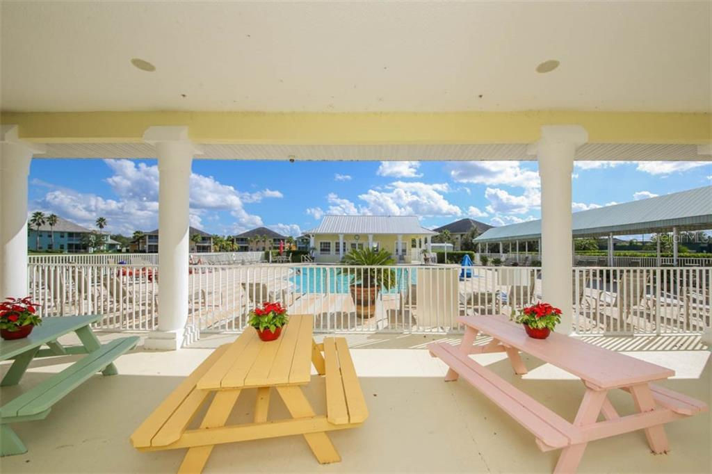 Covered picnic area between the Club House & Pool. - Condo for sale at 2040 Willow Hammock Cir #b208, Punta Gorda, FL 33983 - MLS Number is C7408424