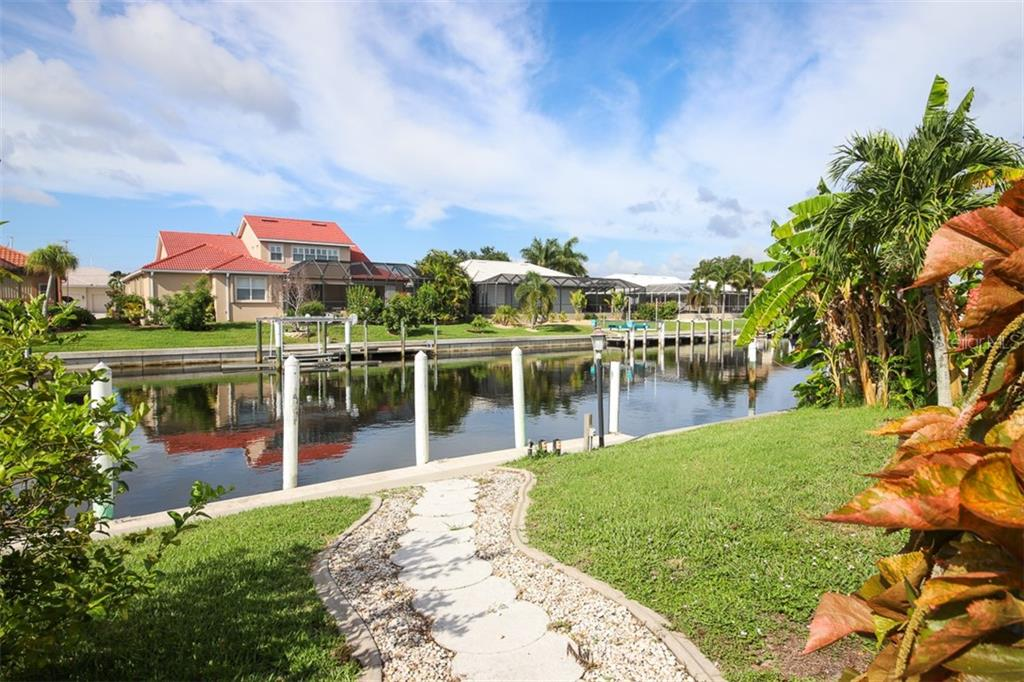 45' concrete dock & tall pilings for large vessels - Single Family Home for sale at 2713 Saint Thomas Dr, Punta Gorda, FL 33950 - MLS Number is C7417491