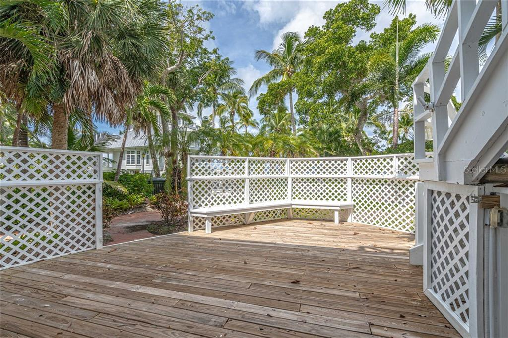 The deck measures approx 24x20 - Single Family Home for sale at 124 Useppa Is, Captiva, FL 33924 - MLS Number is C7419408