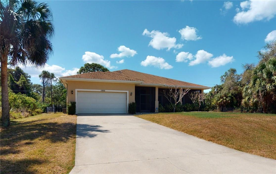 Front yard - Single Family Home for sale at 11905 Florence Ave, Port Charlotte, FL 33981 - MLS Number is C7441003