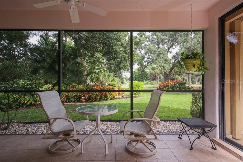 Covered lanai - Condo for sale at 7631 Fairway Woods Dr #601, Sarasota, FL 34238 - MLS Number is A4168292