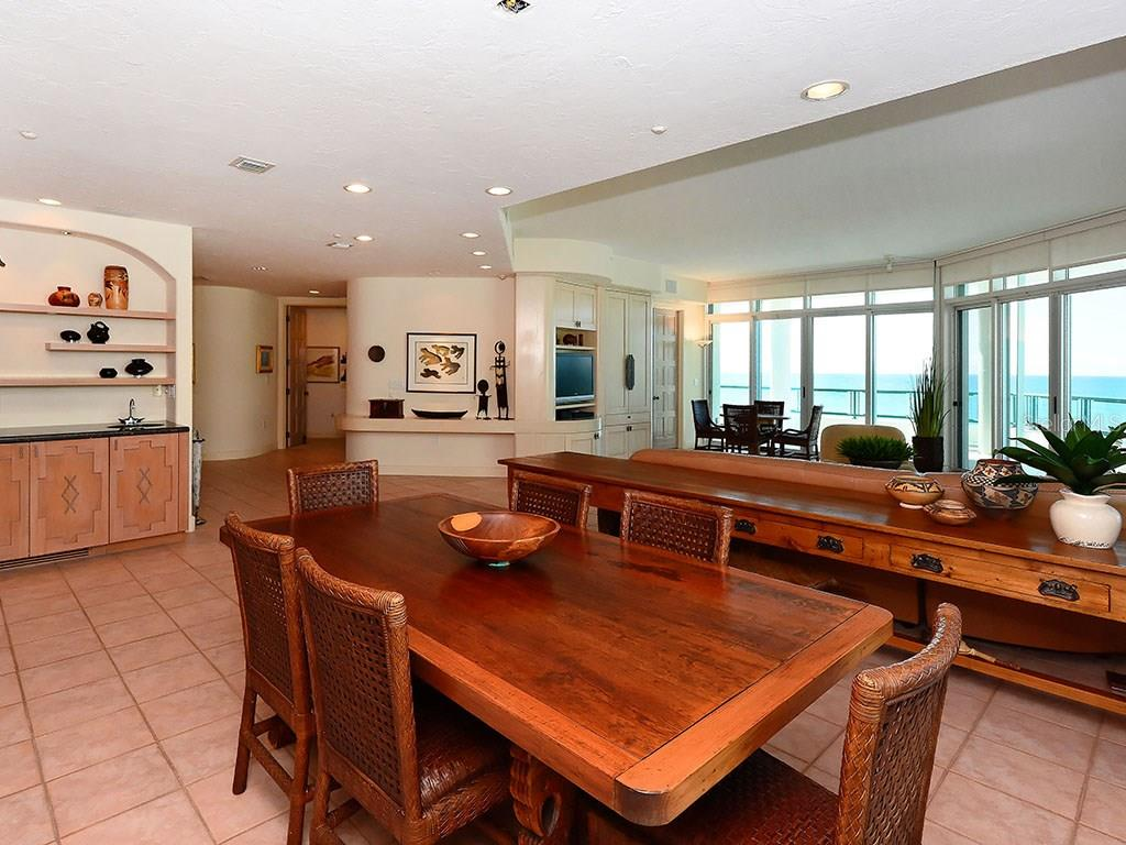 Dining Area in Living Room - Single Family Home for sale at 655 Longboat Club Rd #13a, Longboat Key, FL 34228 - MLS Number is A4171637