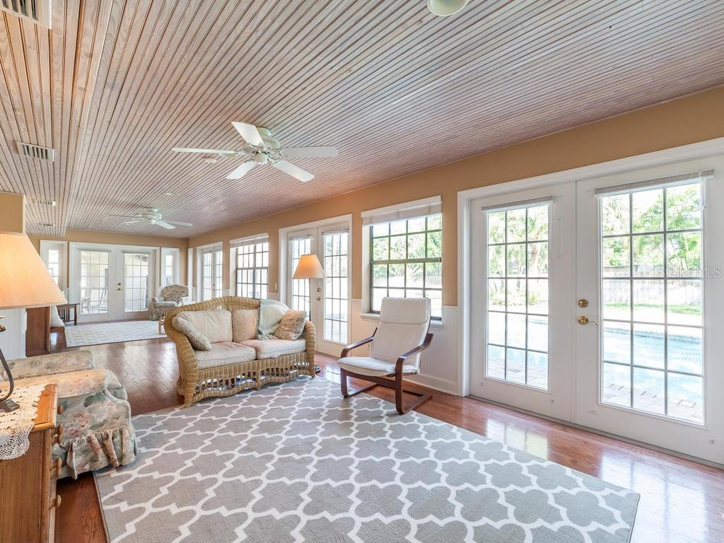 Sunroom (one) with 180 degree pool view - Single Family Home for sale at 7812 17th Ave W, Bradenton, FL 34209 - MLS Number is A4178350