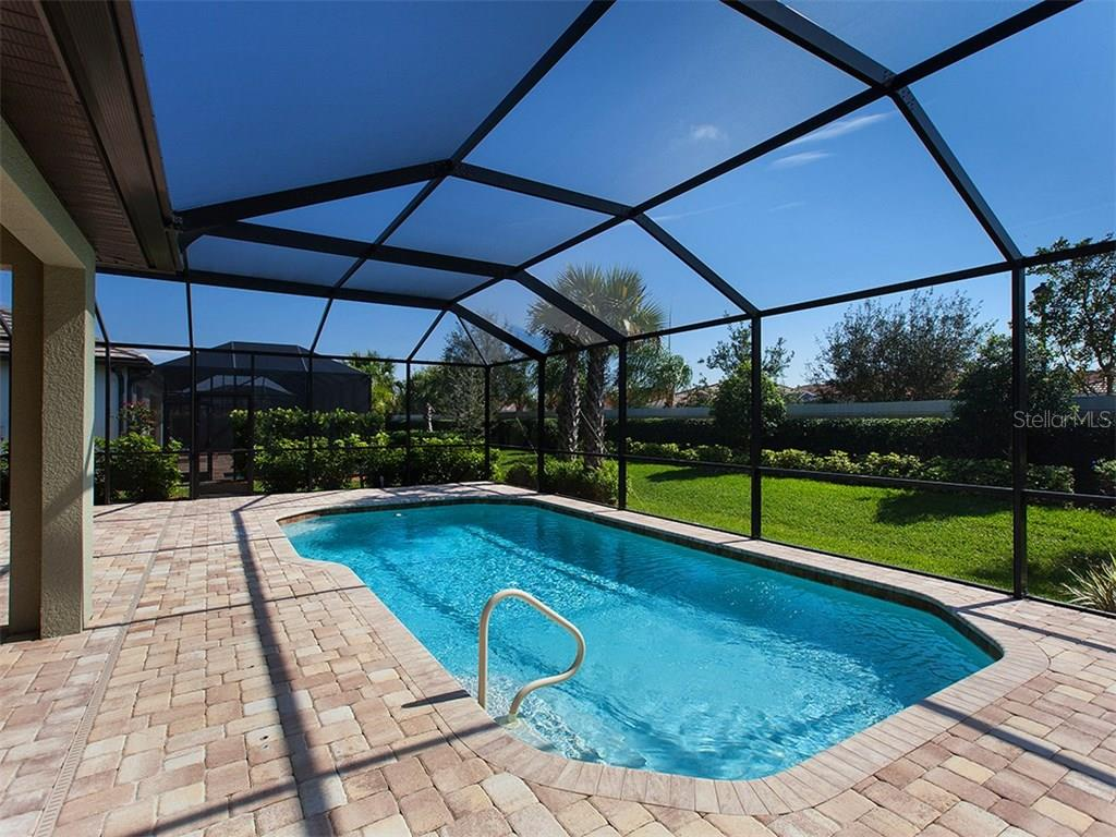 Private pool with extended Lanai. - Single Family Home for sale at 5436 Sundew Dr, Sarasota, FL 34238 - MLS Number is A4178629