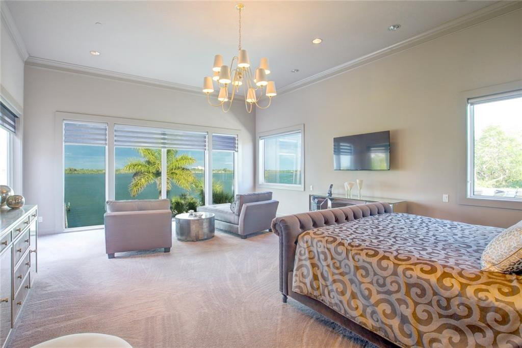 Master suite with exceptional view of Sarasota Bay. - Single Family Home for sale at 8319 Midnight Pass Rd, Sarasota, FL 34242 - MLS Number is A4184004