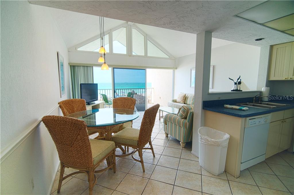 View from entry hallway - Condo for sale at 100 73rd St #202a, Holmes Beach, FL 34217 - MLS Number is A4184505