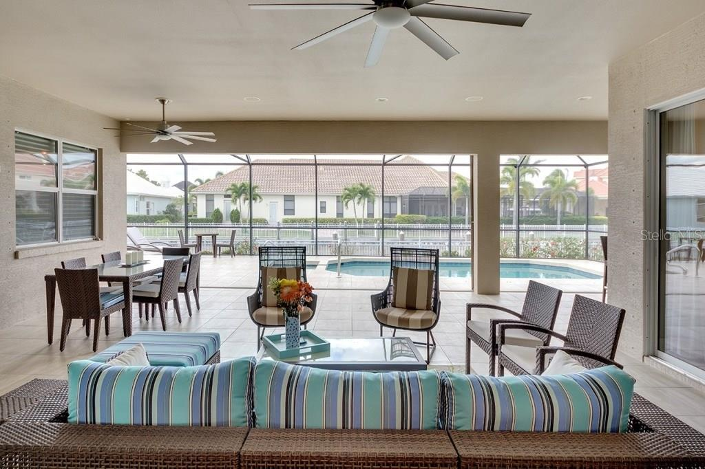 Spacious Outdoor Lanai - Single Family Home for sale at 505 Mast Dr, Bradenton, FL 34208 - MLS Number is A4184659