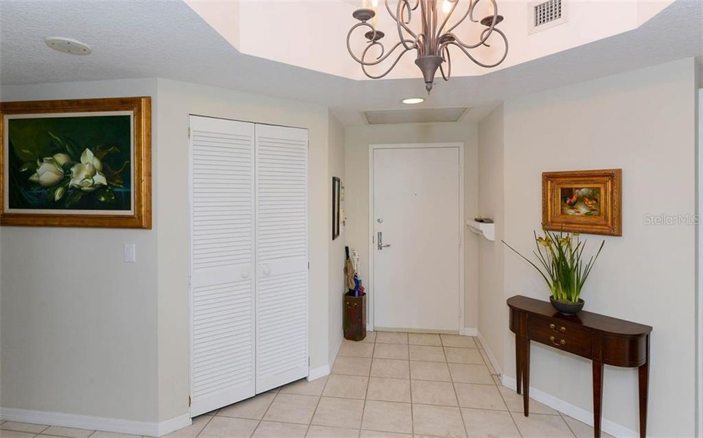 Welcoming entry - Condo for sale at 1800 Benjamin Franklin Dr #a202, Sarasota, FL 34236 - MLS Number is A4187131