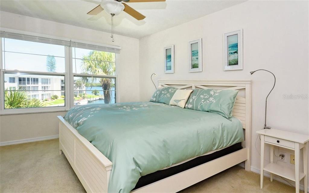 Master Bedroom W/ Water views - Condo for sale at 4330 Falmouth Dr #307, Longboat Key, FL 34228 - MLS Number is A4187329