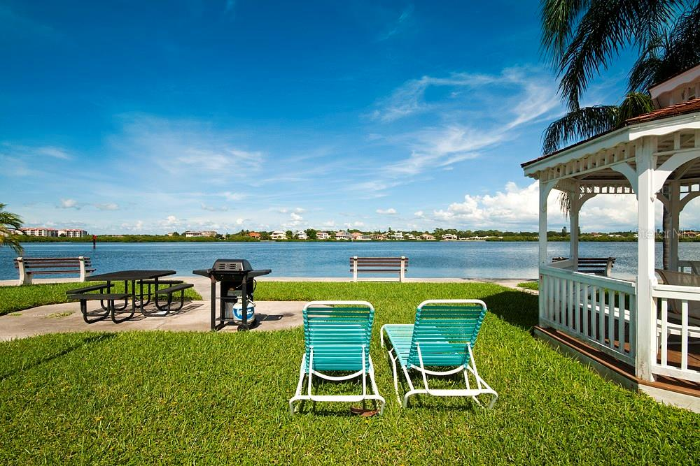 Bay front BBQ area - Condo for sale at 5855 Midnight Pass Rd #628, Sarasota, FL 34242 - MLS Number is A4190416