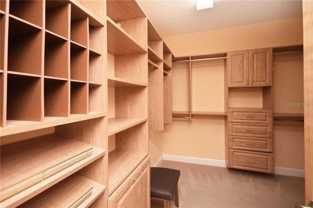 Master closet - Condo for sale at 439 Beach Rd #e, Sarasota, FL 34242 - MLS Number is A4192797