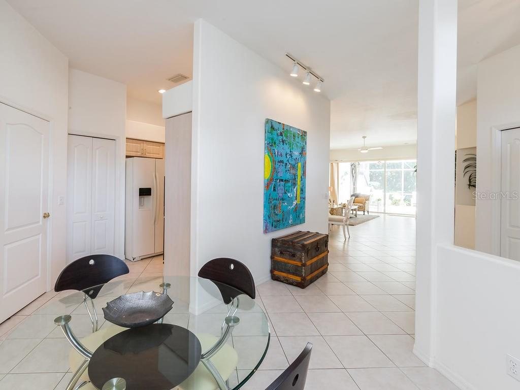 Dinette Space off the Kitchen - Villa for sale at 8773 Pebble Creek Ln, Sarasota, FL 34238 - MLS Number is A4197786