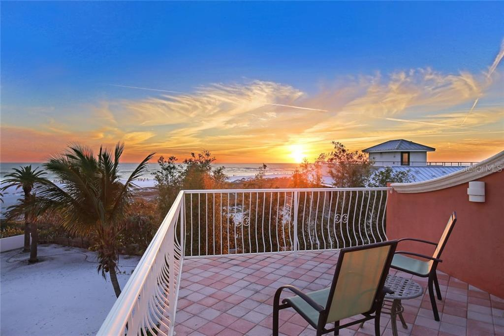 Roof top terrace with gorgeous sunset views - Single Family Home for sale at 166 Bryant Dr, Sarasota, FL 34236 - MLS Number is A4203504