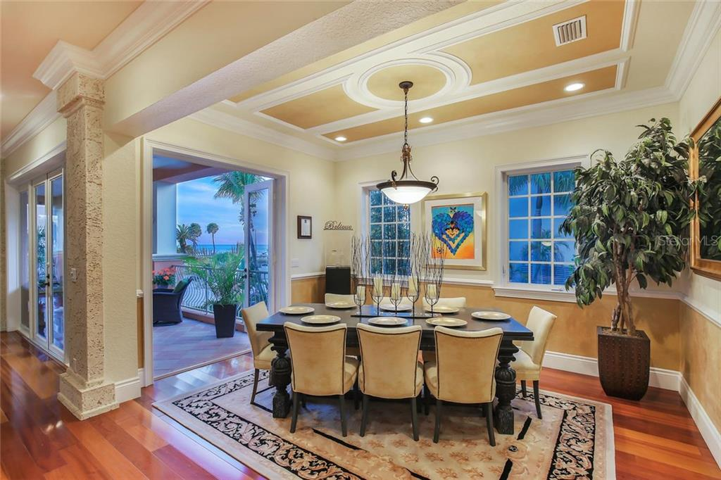 Dining area with French doors to terrace - Single Family Home for sale at 166 Bryant Dr, Sarasota, FL 34236 - MLS Number is A4203504