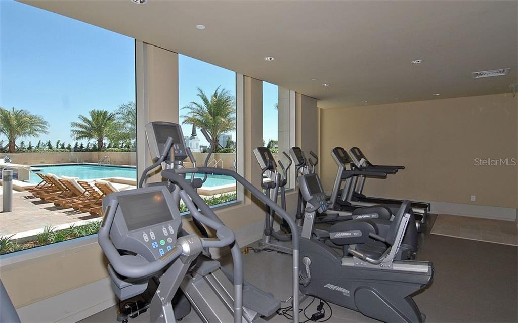 Fitness room lets you enjoy the outdoors while you work out - Condo for sale at 1350 Main St #608, Sarasota, FL 34236 - MLS Number is A4206707