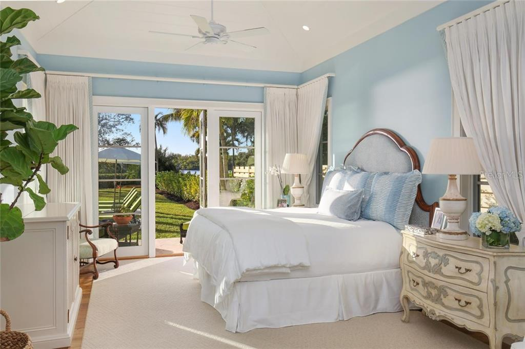 Master bedroom with access to outside patio - Single Family Home for sale at 3930 Red Rock Way, Sarasota, FL 34231 - MLS Number is A4207508