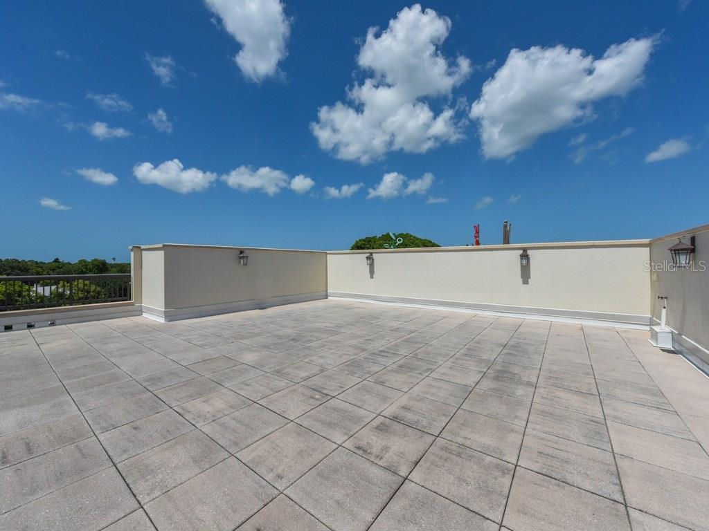 Huge private roof-top terrace. Has gas/electric/water to add summer kitchen. Views to downtown and Hudson Bayou. - Condo for sale at 888 S Orange Ave #ph-C, Sarasota, FL 34236 - MLS Number is A4209372