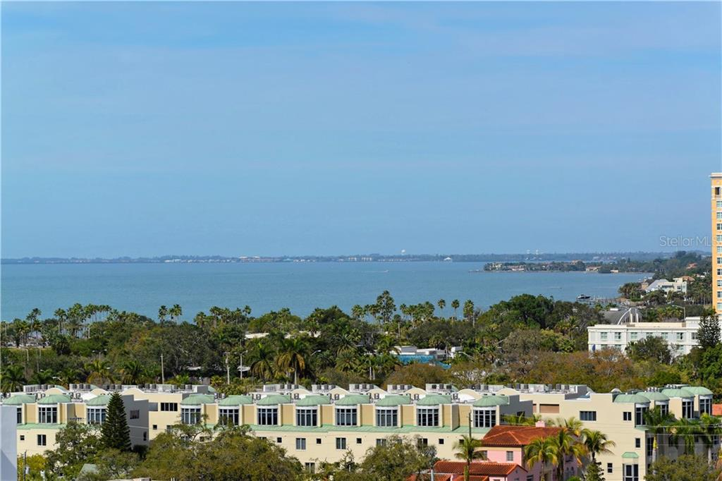 View to the North - Condo for sale at 1350 Main St #1106, Sarasota, FL 34236 - MLS Number is A4209424