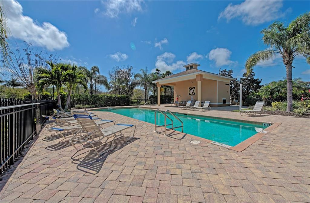 Beautiful community pool - Condo for sale at 5360 Mang Pl #1405, Sarasota, FL 34238 - MLS Number is A4212314