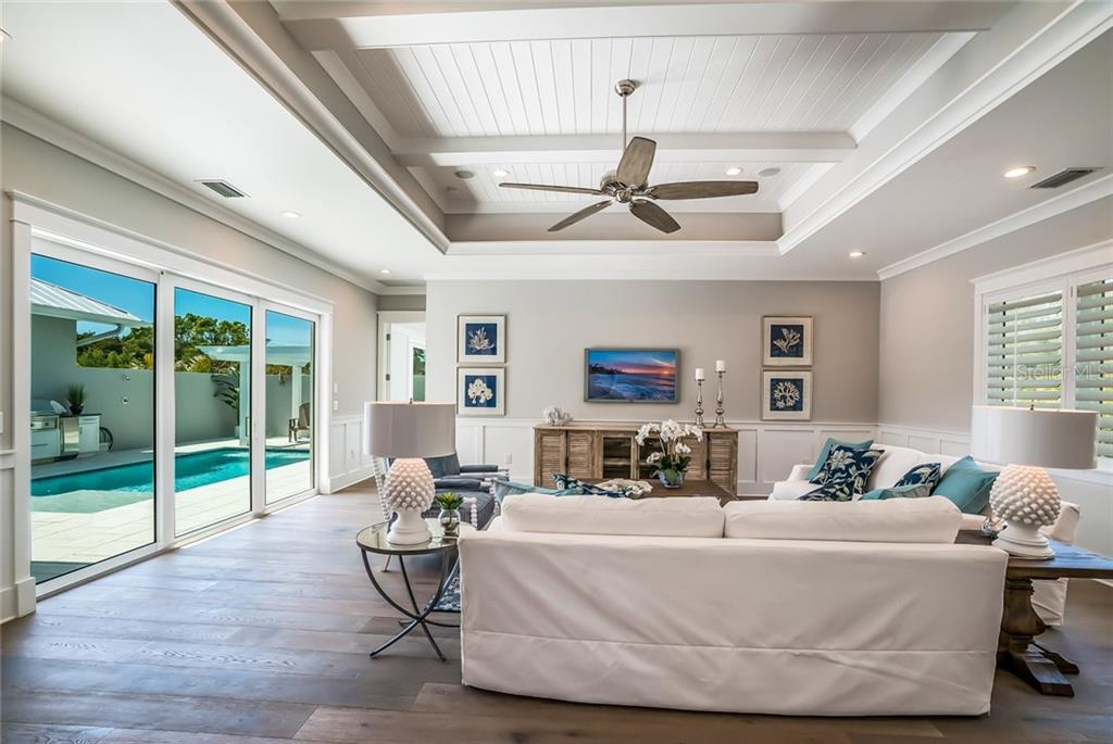 Spatial Grand Room - Single Family Home for sale at 601 Triton Bnd, Longboat Key, FL 34228 - MLS Number is A4215179