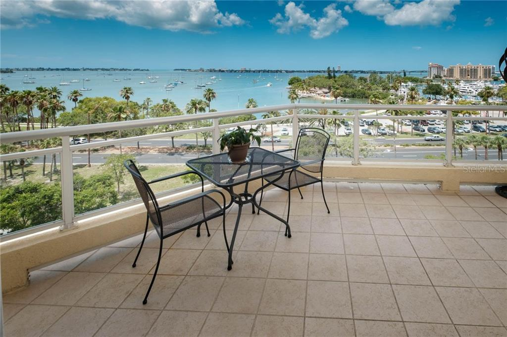 View from main Terrace. - Condo for sale at 340 S Palm Ave #412, Sarasota, FL 34236 - MLS Number is A4403968