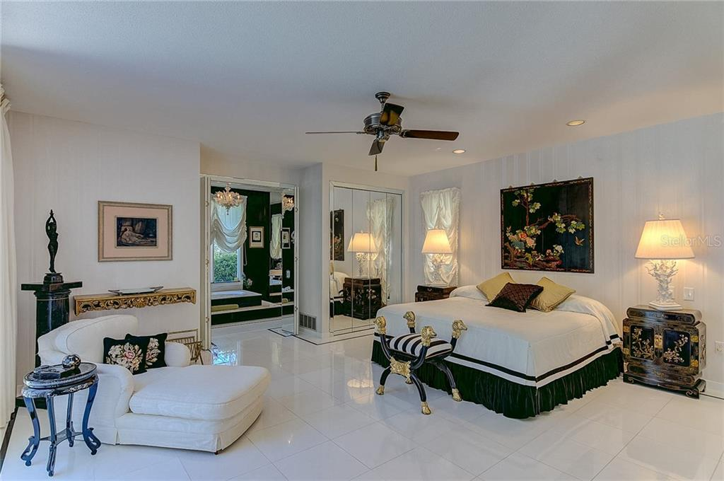Master Bedroom and Ensuite - Single Family Home for sale at 3911 Spyglass Hill Rd, Sarasota, FL 34238 - MLS Number is A4404657