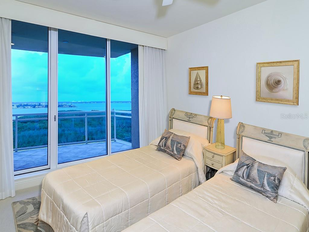 Bedroom #2 - Access to Terrace - Condo for sale at 1300 Benjamin Franklin Dr #1008, Sarasota, FL 34236 - MLS Number is A4405360
