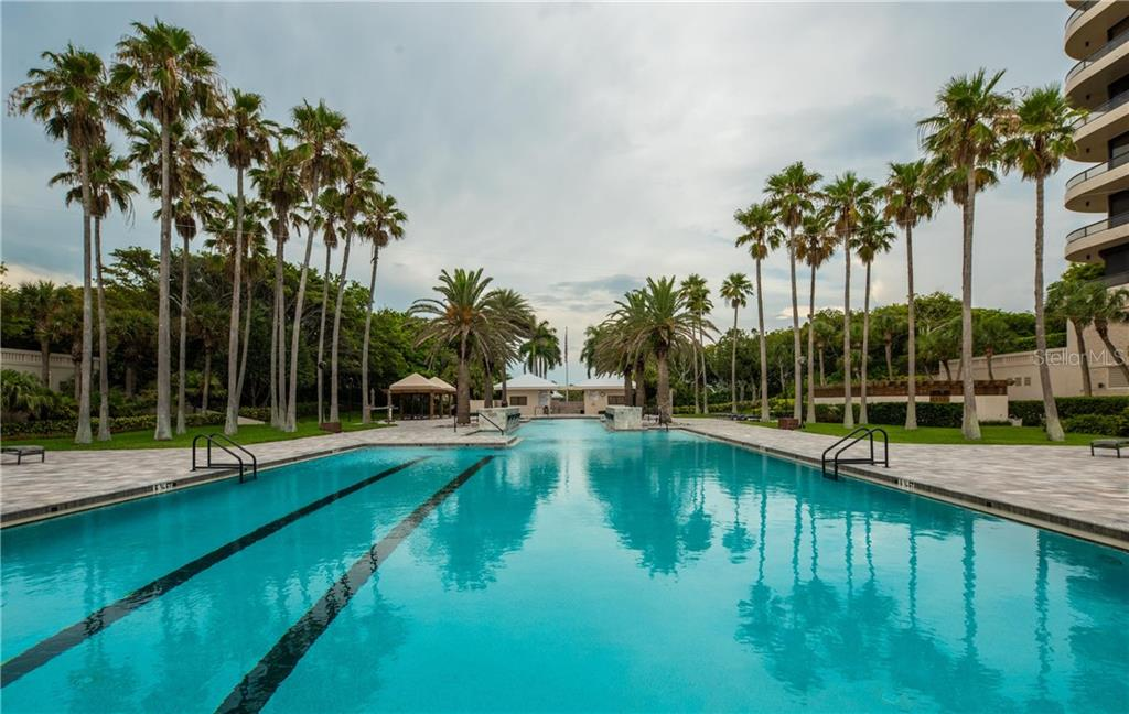 Recently renovated community pool - Condo for sale at 435 L Ambiance Dr #k806, Longboat Key, FL 34228 - MLS Number is A4406683