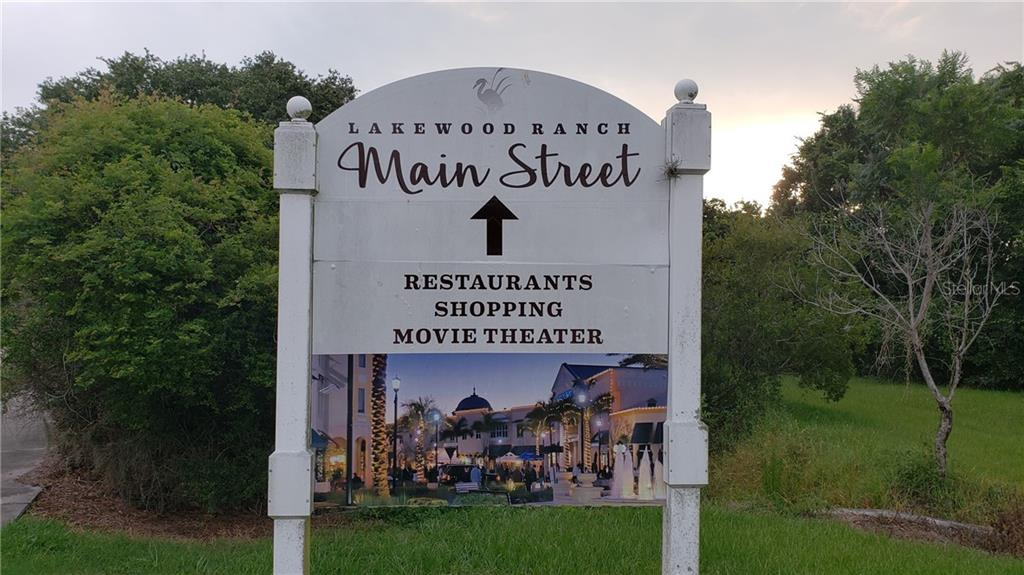 In the heart of Lakewood Ranch is MAIN STREET. Two additional