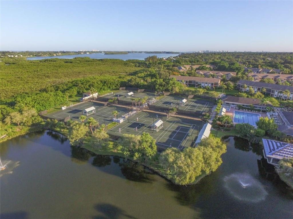 Waterside tennis courts - an active tennis community with various levels of play. - Condo for sale at 1716 Starling Dr #204, Sarasota, FL 34231 - MLS Number is A4412237