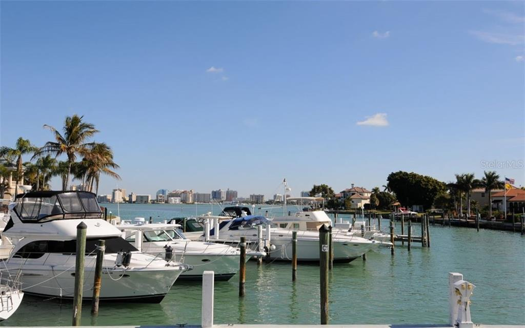 Some of the many boats docked at the Yacht Club. - Single Family Home for sale at 390 Bob White Dr, Sarasota, FL 34236 - MLS Number is A4413388