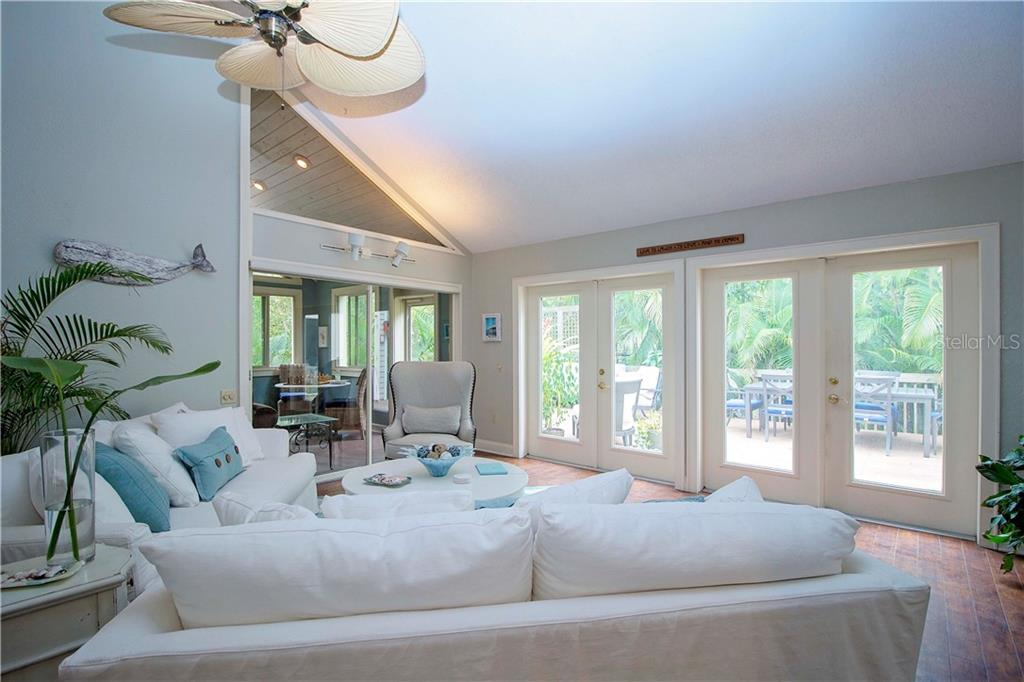 Great Room With a View of Spectacular Deck - Single Family Home for sale at 1205 Sea Plume Way, Sarasota, FL 34242 - MLS Number is A4414083