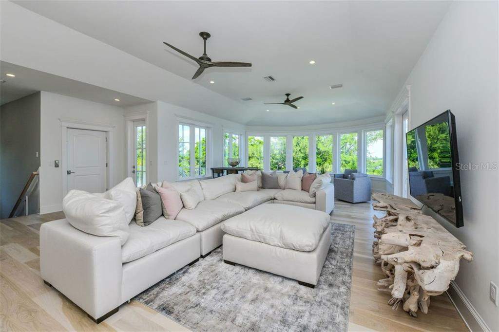 3rd level family room overlooking Sarasota Bay and the gorgeous Gulf of Mexico. - Single Family Home for sale at 3470 Gulf Of Mexico Dr, Longboat Key, FL 34228 - MLS Number is A4415298