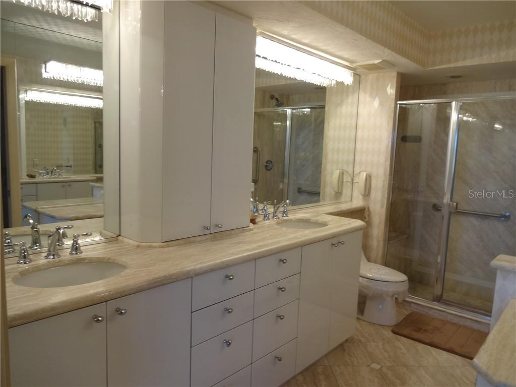 Master Bath-shower only - Condo for sale at 5780 Midnight Pass Rd #701b, Sarasota, FL 34242 - MLS Number is A4422545
