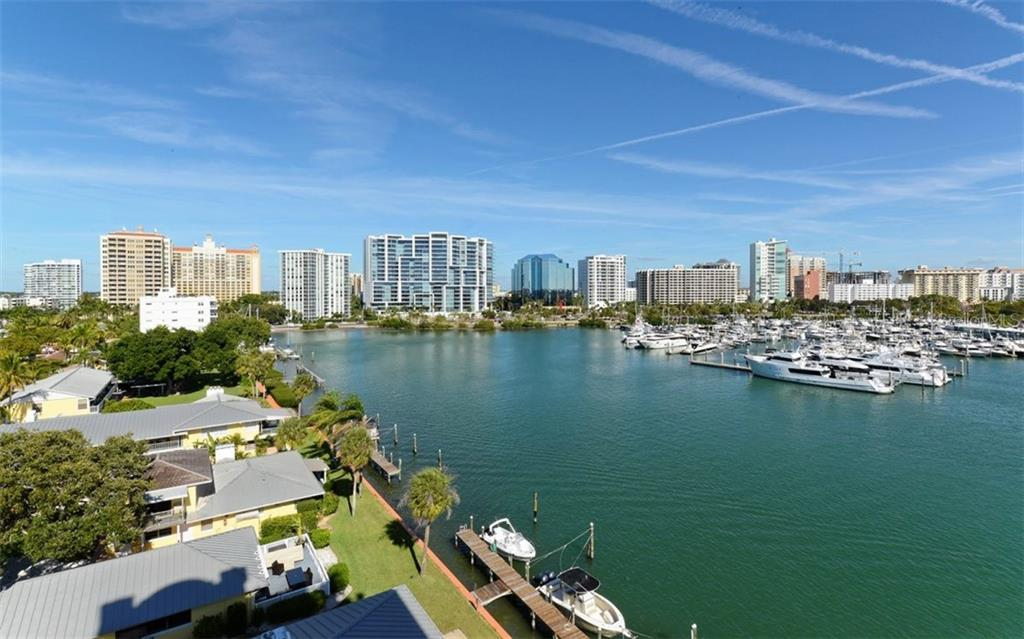 View from Master Suite Terrace. - Condo for sale at 464 Golden Gate Pt #701, Sarasota, FL 34236 - MLS Number is A4422622