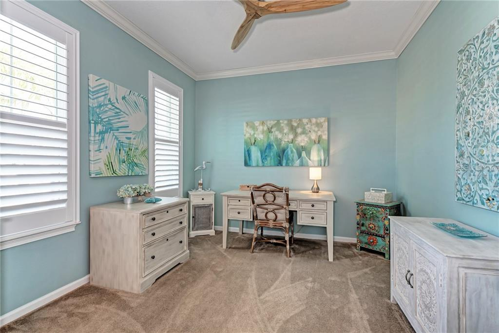The owner added beautiful plantation shutters throughout the home! - Single Family Home for sale at 5260 Bentgrass Way, Bradenton, FL 34211 - MLS Number is A4424484