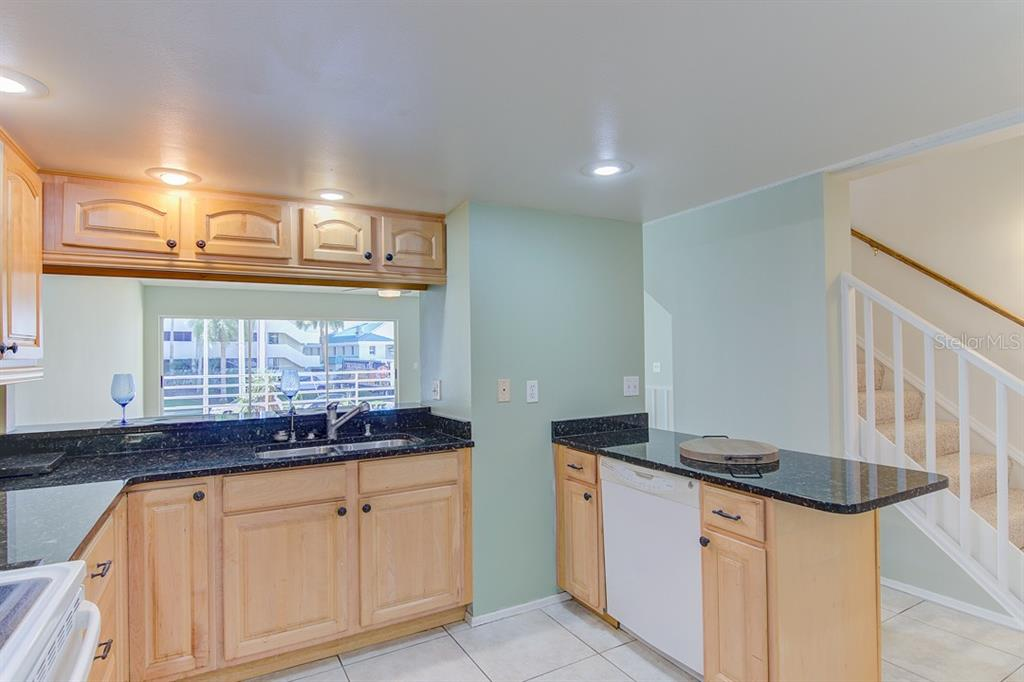 Lots of counter space and amazing views from kitchen - Condo for sale at 773 Benjamin Franklin Dr #7, Sarasota, FL 34236 - MLS Number is A4427752
