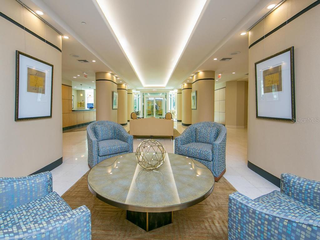 Sarabande Lobby - Condo for sale at 340 S Palm Ave #74, Sarasota, FL 34236 - MLS Number is A4432744