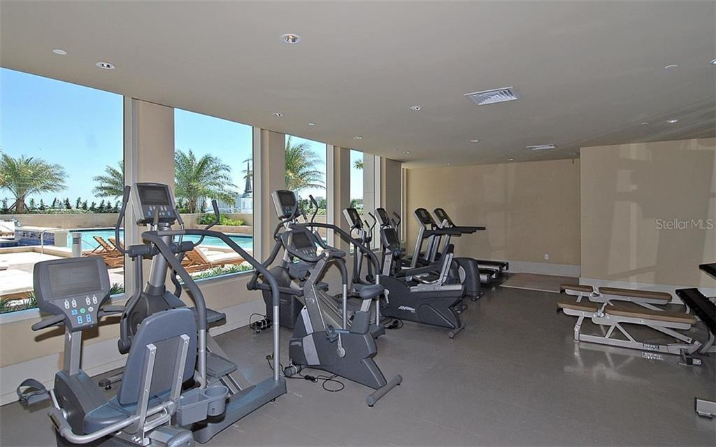 Work out while watching activity in the pool - Condo for sale at 1350 Main St #1500, Sarasota, FL 34236 - MLS Number is A4433444