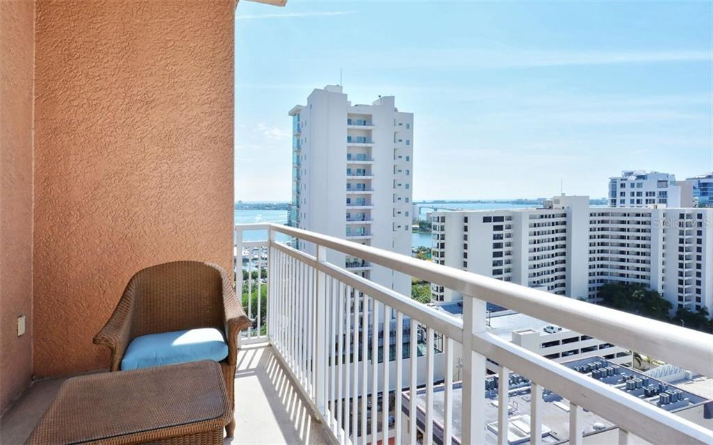 Balcony high above Main Street - Condo for sale at 1350 Main St #1500, Sarasota, FL 34236 - MLS Number is A4433444