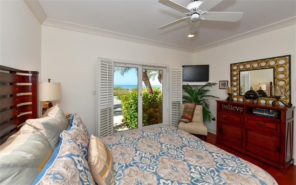 Bedroom 2 view to beach - Single Family Home for sale at 3809 Casey Key Rd, Nokomis, FL 34275 - MLS Number is A4437924