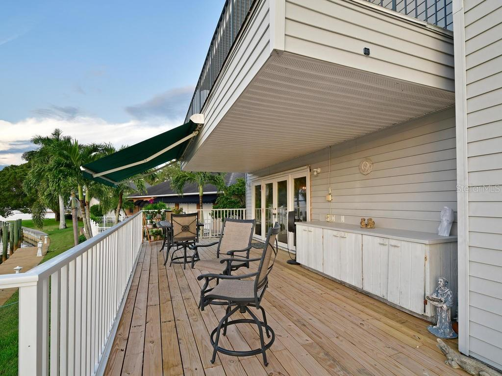 Look at this back deck!  Entertain your family and guests comfortably and watch beautiful westerly sunsets. - Single Family Home for sale at 2008 72nd St Nw, Bradenton, FL 34209 - MLS Number is A4450238